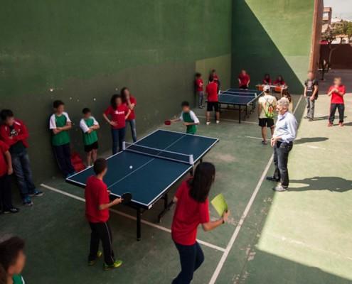 Ping-pong en campamentos y aire libre